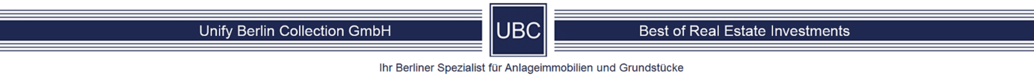 UBC – Unify Berlin Collection GmbH – Best of Real Estate Investments